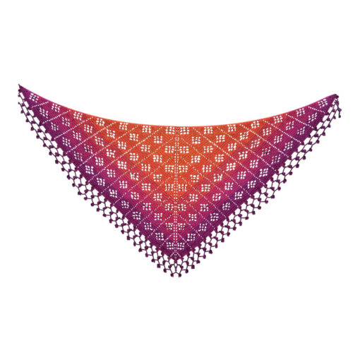ehaakte sjaal, patroon: fruity shawl | Vicarno