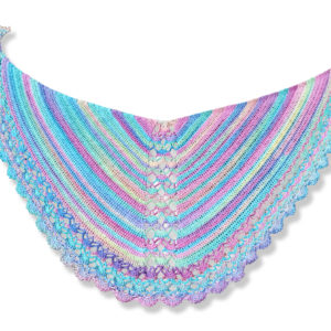 Crochet pattern shawl: pearls and the mermaid | Vicarno's